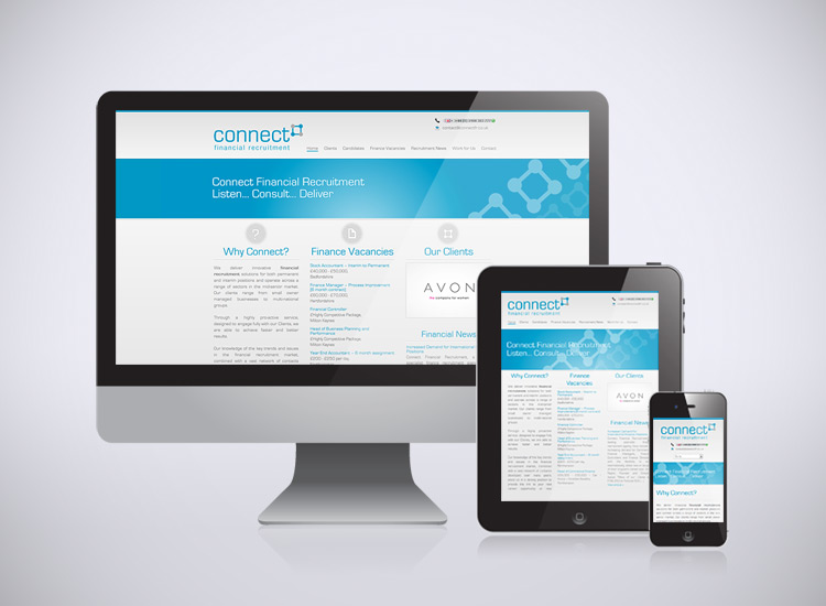 Responsive web design for Connect