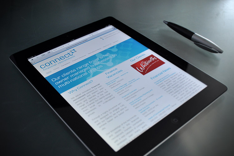 Responsive web design for Connect - Tablet Example