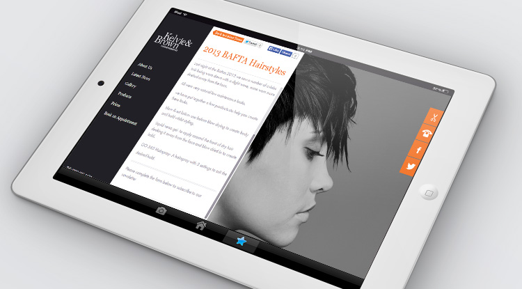 Kelvie & Brown Design for Tablet