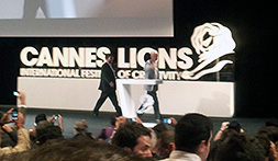 Bill Clinton leaving the stage at Cannes Lions 2012